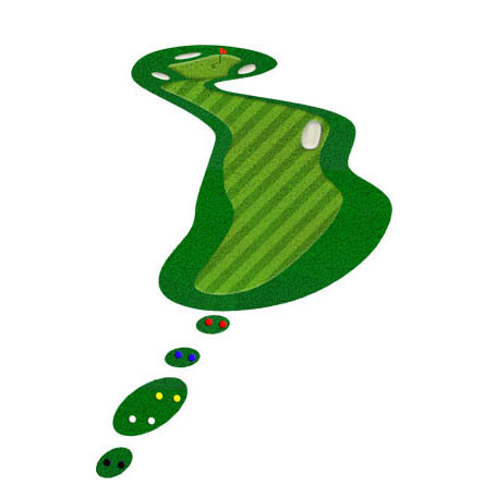 Dołek numer 14 na polu golfowym Lisia Polana